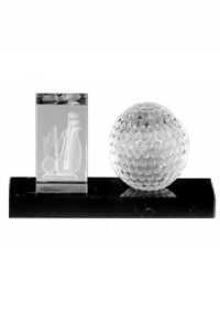 Trophäe Golf Kristallglas (M-7562)