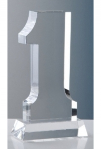 Glas-Trophäe Rang 1, 25 cm