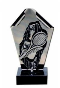 Trophäe Tennis Edelstahl (M-1761)